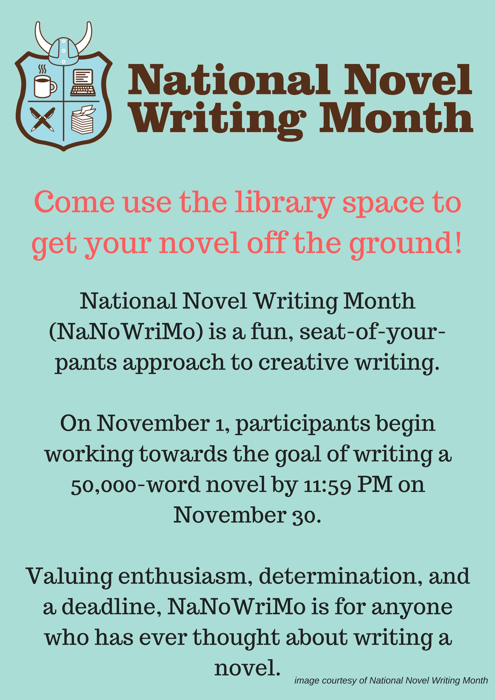 national novel writing month 2012 Need to jumpstart your national novel writing month efforts try some twitter fiction prompts to warm up your brain inspired by alltwitter's 25 writing prompts for.